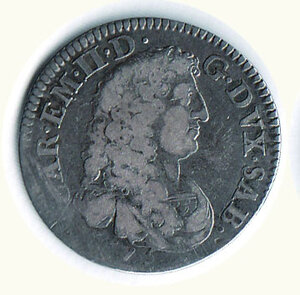 obverse: SAVOIA - Carlo Emanuele II - Lira nuova 1675 - MIR 816.