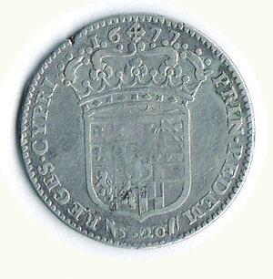 reverse: SAVOIA - Vittorioorio Amedeo II - Reggenza della madre - Lira 1677