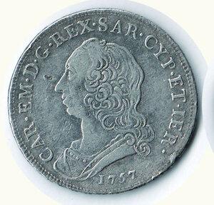 obverse: SAVOIA - Carlo Emanuele III - Mezzo Scudo nuovo 1757