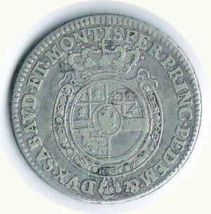 reverse: SAVOIA - Carlo Emanuel III - ¼ di Scudo 1762.