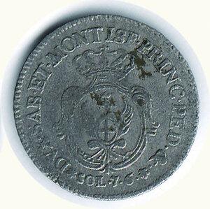 reverse: SAVOIA - Carlo Emanuele III - 7,6 Soldi 1755