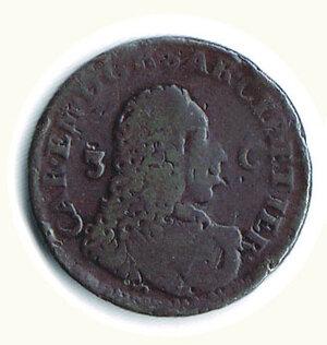 obverse: SAVOIA - Carlo Emanuele III - 3 Cagliaresi 1732