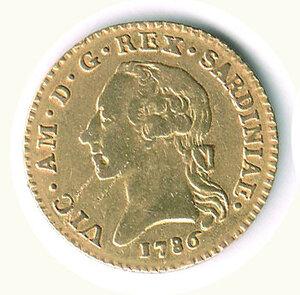 obverse: SAVOIA - Vittorio Amedeo III - Doppia 1786.