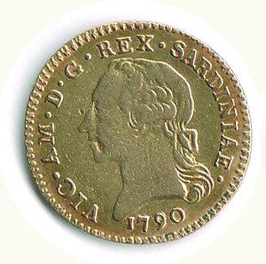 obverse: SAVOIA - Vittorio Amedeo III - Doppia 1790