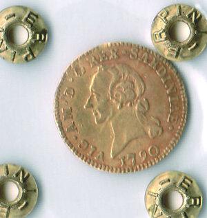 obverse: SAVOIA - Vittorio Amedeo III - ½ Doppia 1790