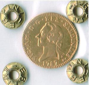obverse: SAVOIA - Vittorio Amedeo III  - ½ Doppia 1787