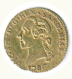 obverse: SAVOIA - Vittorio Amedeo III - ¼ di Doppia 1786