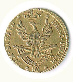 reverse: SAVOIA - Vittorio Amedeo III - ¼ di Doppia 1786