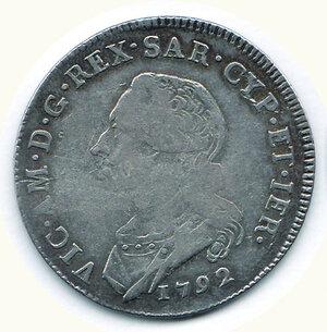 obverse: SAVOIA Vittorio Emanuele III Mezzo Scudo 1792