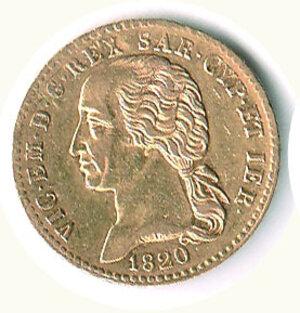 obverse: SAVOIA - Vittorio Emanuele I (1802-1821) - 20 Lire 1820.