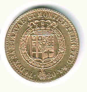 reverse: SAVOIA - Vittorio Emanuele I (1802-1821) - 20 Lire 1820.