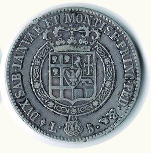 reverse: SAVOIA - Vittorio Emanuele I - 5 Lire 1819.