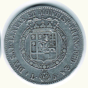 reverse: SAVOIA - Vittorio Emanuele I - 5 Lire 1820.