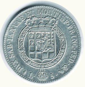 reverse: SAVOIA - Vittorio Emanuele I  - 5 Lire 1818.