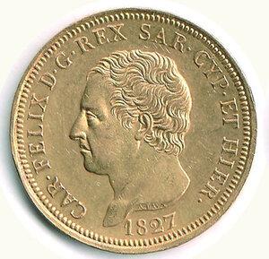 obverse: SAVOIA - Carlo Felice - 80 Lire 1827 To.