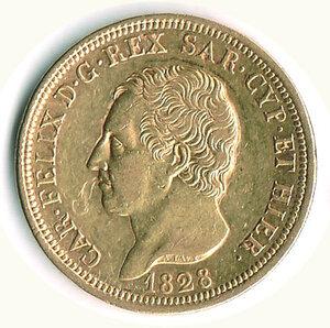 obverse: SAVOIA - Carlo Felice - 80 Lire 1828 To.