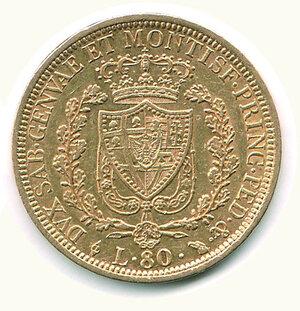 reverse: SAVOIA - Carlo Felice - 80 Lire 1828 To.