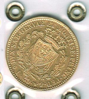 reverse: SAVOIA - Carlo Felice - 40 Lire 1831 To