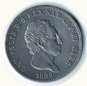 obverse: SAVOIA - Carlo Felice - 5 Lire 1829 Ge