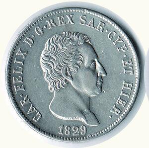 obverse: SAVOIA - Carlo Felice - 5 Lire 1829 To.