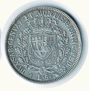 reverse: CARLO FELICE - 5 Lire 1829 Torino
