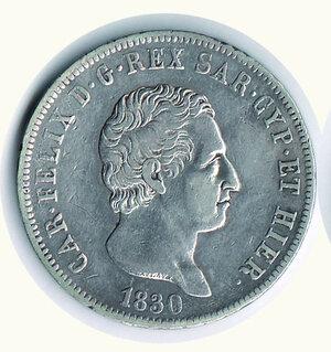 obverse: SAVOIA - Carlo Felice - 5 Lire 1830 Ge.