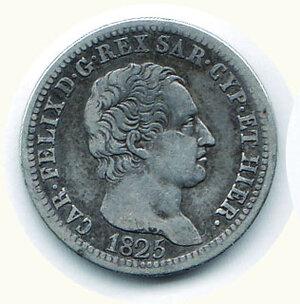obverse: CARLO FELICE lira 1825