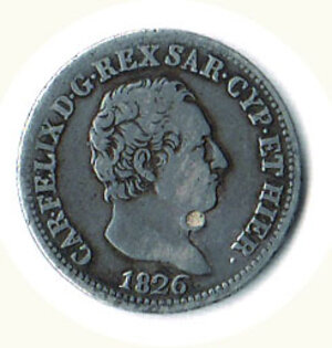 obverse: SAVOIA - Carlo Felice - 50 Cent. 1826 To.