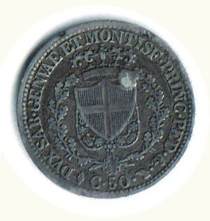 reverse: SAVOIA - Carlo Felice - 50 Cent. 1826 To.