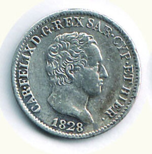 obverse: CARLO FELICE - 50 centesimi 1828