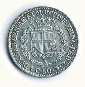 reverse: CARLO FELICE - 50 centesimi 1828