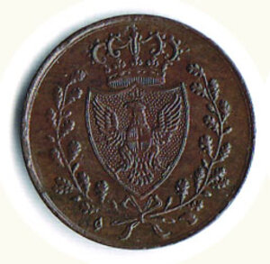 obverse: SAVOIA - Carlo Felice - 1 Cent. 1826 To