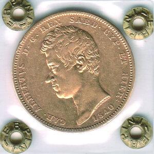 obverse: SAVOIA - Carlo Alberto (1831-1849) - 100 Lire 1840