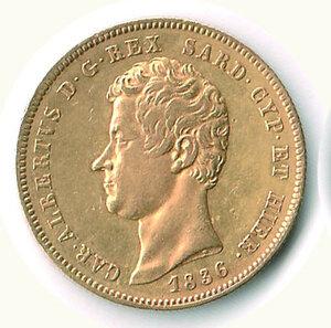 obverse: SAVOIA - Carlo Alberto - 50 Lire 1836 To - 386 pezzi coniati.