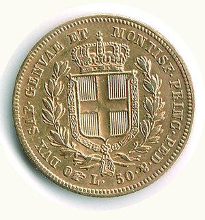 reverse: SAVOIA - Carlo Alberto - 50 Lire 1836 To - 386 pezzi coniati.