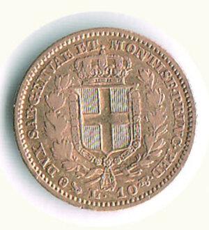 reverse: SAVOIA - Carlo Alberto - 10 Lire 1844 Ge.