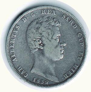 obverse: SAVOIA - Carlo Alberto - 5 Lire 1832 To.
