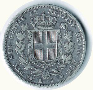 reverse: SAVOIA - Carlo Alberto - 5 Lire 1832 To.