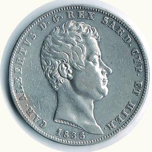 obverse: SAVOIA - Carlo Alberto - 5 Lire 1835 Ge.  r