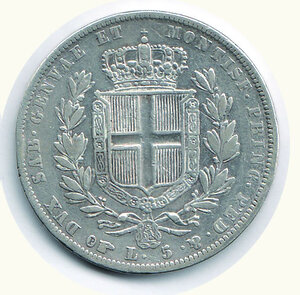reverse: SAVOIA - Carlo Alberto - 5 Lire 1837 To.
