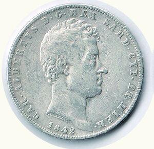 obverse: SAVOIA - Carlo Alberto - 5 Lire 1842 Ge.