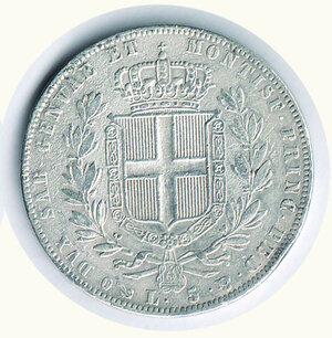 reverse: SAVOIA - Carlo Alberto - 5 Lire 1842 Ge.