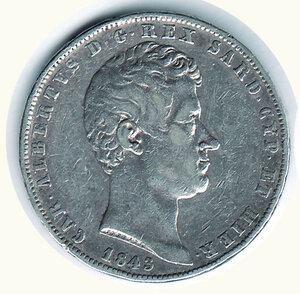 obverse: SAVOIA - Carlo Alberto - 5 Lire 1843 Ge.