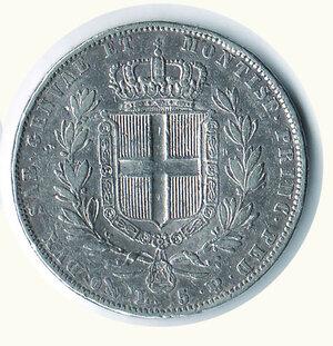 reverse: SAVOIA - Carlo Alberto - 5 Lire 1843 Ge.