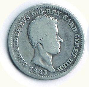 obverse: SAVOIA - Carlo Alberto - 50 Cent 1833 To.