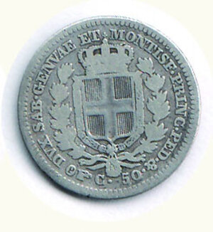 reverse: SAVOIA - Carlo Alberto - 50 Cent 1833 To.