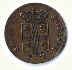 obverse: SAVOIA - Carlo Alberto - Monetazione per la Sadegna - 5 Cent 1842.