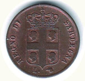 obverse: SAVOIA - Carlo Alberto - Monetazione per la Sardegna - 3 Cent 1842