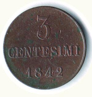 reverse: SAVOIA - Carlo Alberto - Monetazione per la Sardegna - 3 Cent 1842