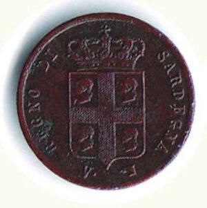 obverse: SAVOIA - Carlo Alberto - Monetazione sarda - 1 Cent. 1842.